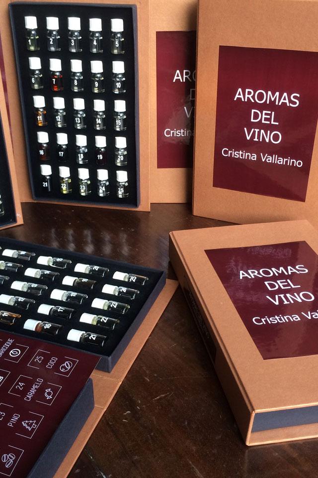 Set de aromas del vino